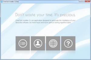 Enlarge OneClick! Installer Screenshot