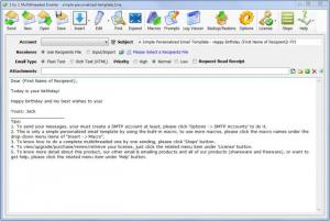 Enlarge 1 by 1 Multithreaded Emailer Screenshot