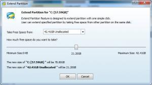 Enlarge MiniTool Partition Wizard Screenshot