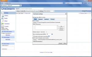 Enlarge OneSwarm Screenshot