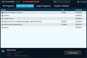Enlarge Anvi Uninstaller Screenshot