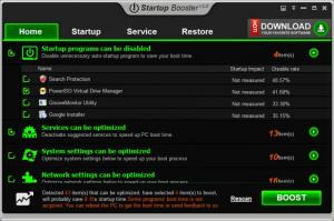 Enlarge Anvi Startup Booster Screenshot