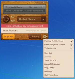 Enlarge TunnelBear Screenshot