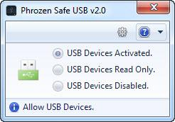 Enlarge Phrozen Safe USB Screenshot