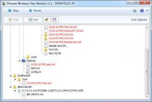 Enlarge Phrozen Windows File Monitor Screenshot