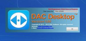 Enlarge DAC Desktop Screenshot