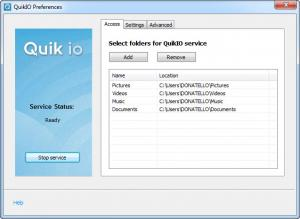 Enlarge QuikIO Screenshot