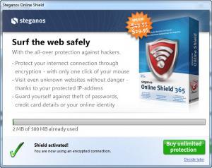 Enlarge Steganos Online Shield Screenshot