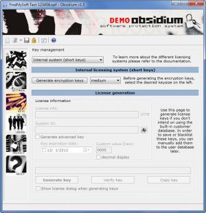Enlarge Obsidium Screenshot