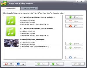 Enlarge AudioCool Audio Converter Screenshot