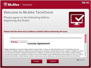Enlarge McAfee TechCheck Screenshot
