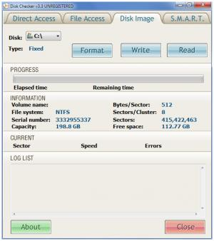 Enlarge Disk Checker Screenshot