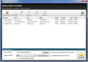 Enlarge Helium Audio Converter Screenshot