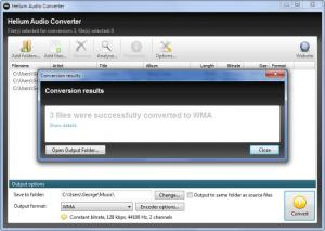 Enlarge Helium Audio Converter Screenshot