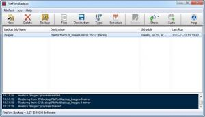 Enlarge FileFort Backup Screenshot