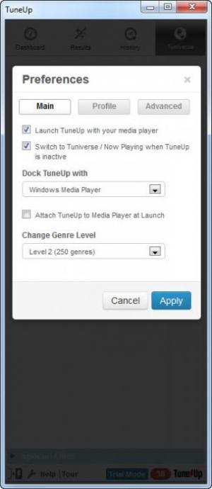 Enlarge TuneUp Screenshot