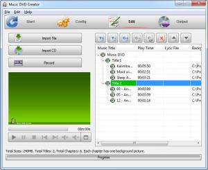 Enlarge Music DVD Creator Screenshot
