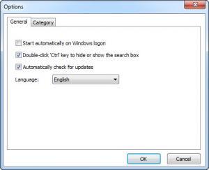 Enlarge Quick Search Screenshot