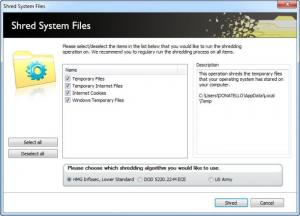 Enlarge Lavasoft File Shredder Screenshot
