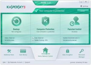 Enlarge Kaspersky PURE Screenshot