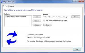 Enlarge Magic Mirror Sync Screenshot