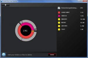 Enlarge Colorful Disk Clean Desktop Screenshot