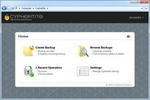 Enlarge Cyphertite Screenshot