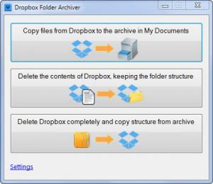 Enlarge Dropbox Archiver Screenshot