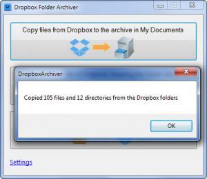 Enlarge Dropbox Archiver Screenshot