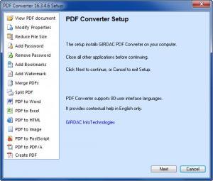 Enlarge GIRDAC PDF Converter Screenshot