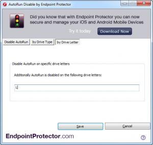 Enlarge AutoRun Disable Screenshot