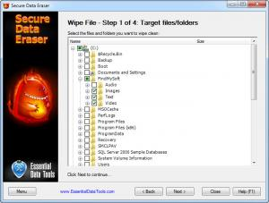 Enlarge Secure Data Eraser Screenshot