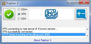 Enlarge Psiphon Screenshot