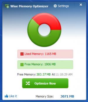 Enlarge Wise Memory Optimizer Screenshot
