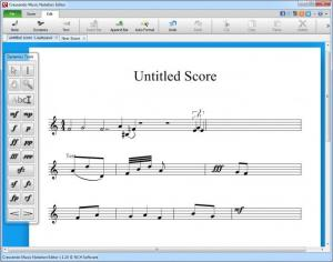 Enlarge Crescendo Music Notation Editor Screenshot