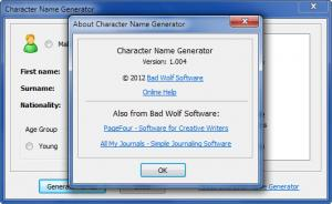 Enlarge Character Name Generator Screenshot