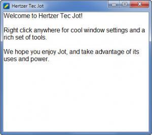 Enlarge Hertzer Tec Jot Screenshot