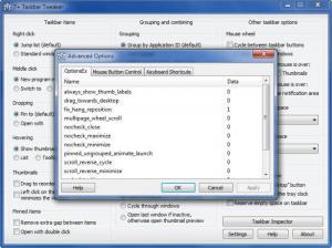 Enlarge 7+ Taskbar Tweaker Screenshot