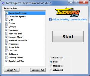 Enlarge System Information Tool Screenshot