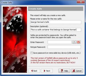 Enlarge East-Tec SafeBit Screenshot