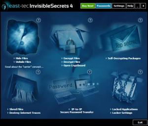 Enlarge East-Tec InvisibleSecrets Screenshot