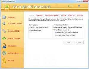 Enlarge Stronghold Antivirus Screenshot