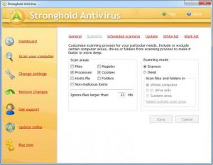 Enlarge Stronghold Antivirus Screenshot