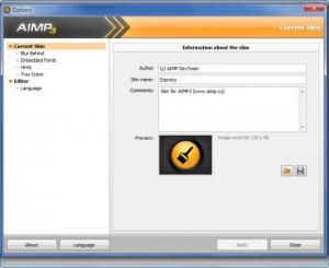 Enlarge AIMP Skin Editor Screenshot