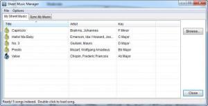 Enlarge Musicnotes Player Screenshot