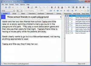 Enlarge Movie Outline Screenshot