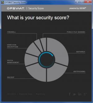 Enlarge OPSWAT Security Score Screenshot