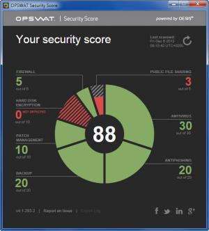 Enlarge OPSWAT Security Score Screenshot