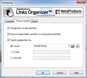 Enlarge Links Organizer Screenshot