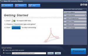 Enlarge Simpo PDF Converter Screenshot